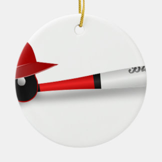 Home Run Game Team Coach Sports Ball Fun Baseball Christmas Tree Ornament