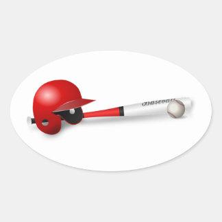 Home Run Game Team Coach Sports Ball Fun Baseball Oval Sticker