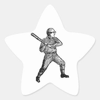 Home Run Game Team Coach Sports Ball Fun Baseball Star Sticker