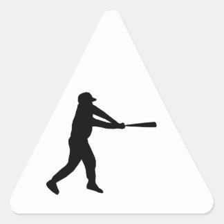 Home Run Game Team Coach Sports Ball Fun Baseball Triangle Sticker