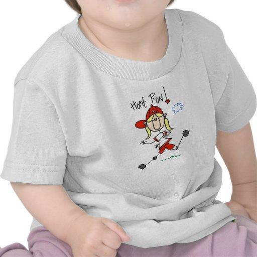 Home Run Girls Softball T-shirts and Gifts