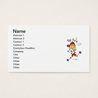 Home Run Girls Softball T-shirts and Gifts Business Card