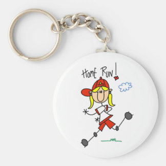 Home Run Girls Softball T-shirts and Gifts Key Chains