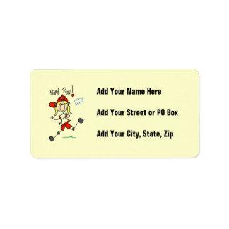 Home Run Girls Softball T-shirts and Gifts Address Label