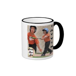 Home Run Hit Ringer Coffee Mug