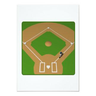 Home Run 5x7 Paper Invitation Card