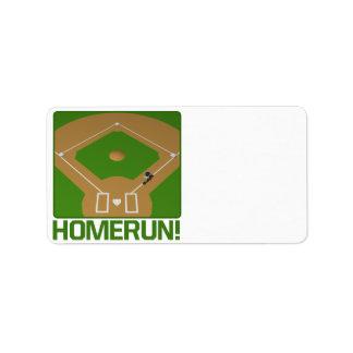 Home Run Personalized Address Label