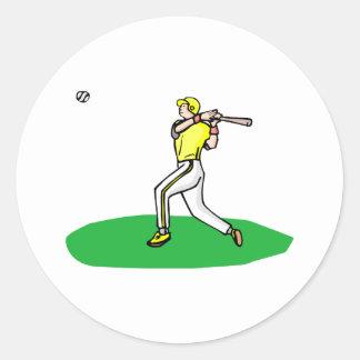 home run pegatinas redondas