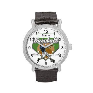 Home run personalizado del béisbol relojes de mano