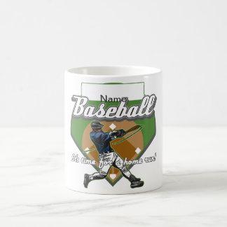 Home run personalizado del béisbol taza