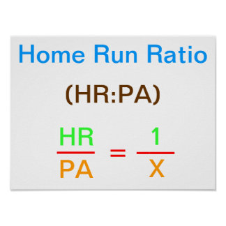 Home Run Ratio Poster