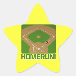 Home Run Star Sticker