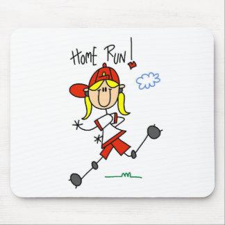 Home Run! Stick Figure Mousepad