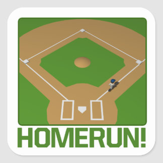 Home Run Square Sticker