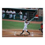 ¡Home run! tarjeta del saludo/de la invitación