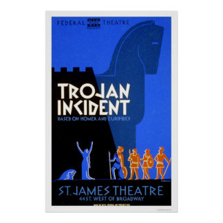 Home run Trojan del incidente WPA 1937 Posters