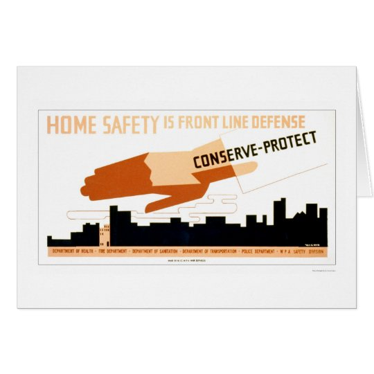 Home Safety Is Defense 1942 WPA Card