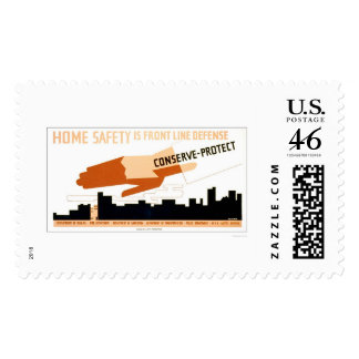 Home Safety Is Defense 1942 WPA Postage