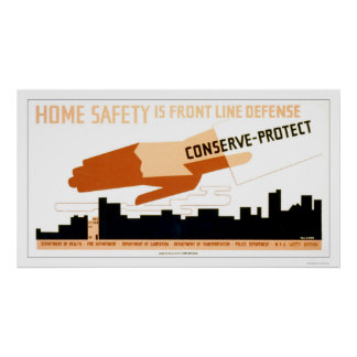 Home Safety Is Defense 1942 WPA Poster