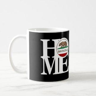 HOME Santa Cruz 11oz Black Classic White Coffee Mug