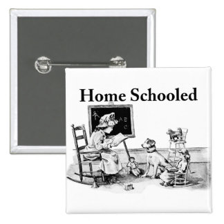 Home Schooled Clothing and Gifts Button
