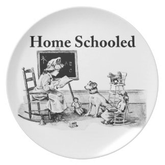 Home Schooled Clothing and Gifts Plate