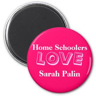Home Schoolers Love Sarah Palin! 2 Inch Round Magnet
