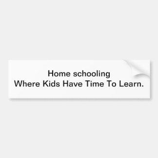 Home schooling Advocate Bumper Sticker Car Bumper Sticker