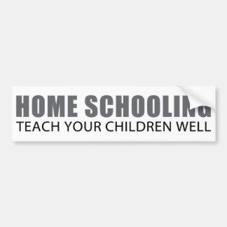 Home Schooling Car Bumper Sticker