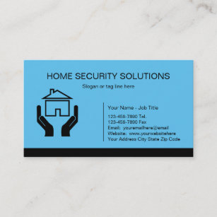 Security Systems Business Cards Zazzle