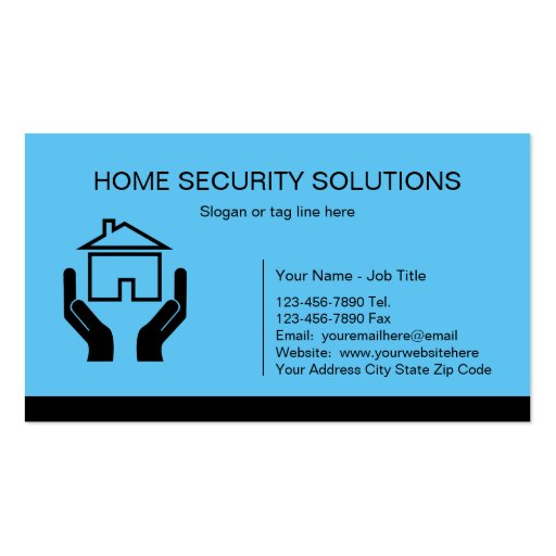 Home security business cards zazzle for Cctv business card