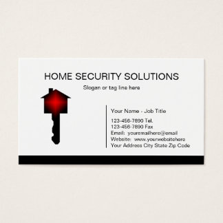 Home Security Business Cards