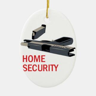 Home Security Ceramic Ornament