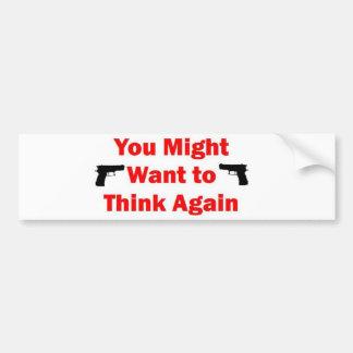 Home Security Gun Car Bumper Sticker