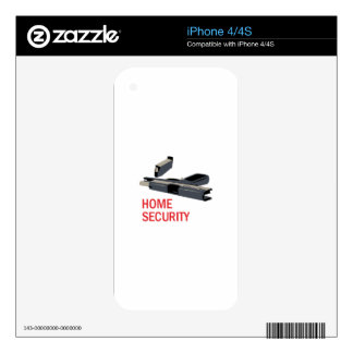 Home Security iPhone 4S Decal