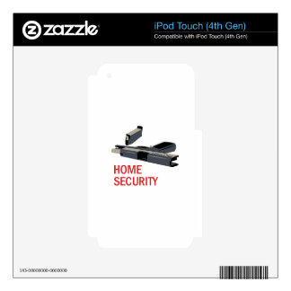 Home Security iPod Touch 4G Decal
