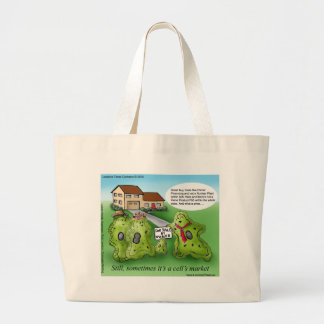 Home Sellers Market? Funny Gifts & Tees Large Tote Bag