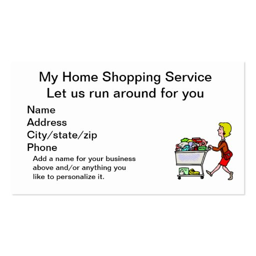 Home Shopping Service Double-Sided Standard Business Cards (Pack Of 100)