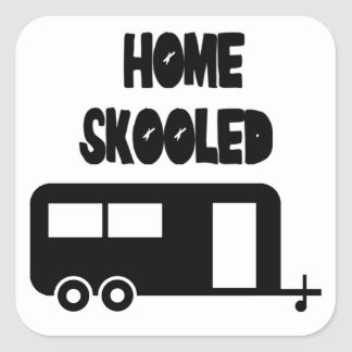 Home Skooled Square Stickers
