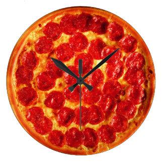 Home Slice Pepperoni Pizza Large Clock