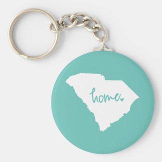 Home South Carolina Custom Color Keychain
