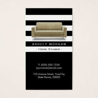 Home Stager Interior Design Modern Classy Style Business Card