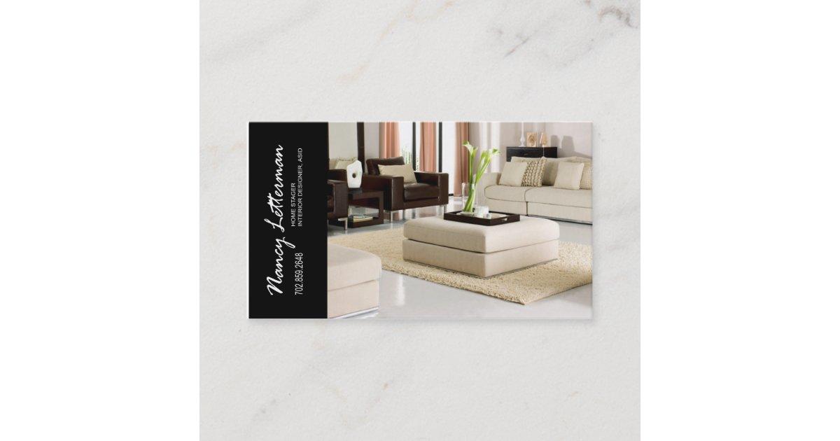 Home Stager Interior Designer Business Card | Zazzle.com