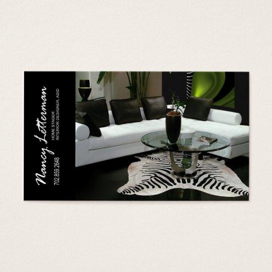 Home Stager Interior Designer Business Card