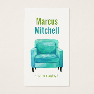 Home Staging Business Cards - easy chair
