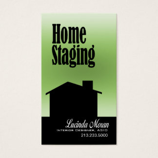 Home Staging Interior Designer Design Consultant Business Card