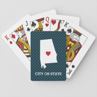 Home State Artwork with City Option - Alabama Playing Cards