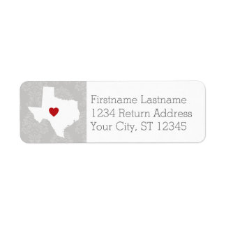 Home State Map Art - Custom Name Texas Label