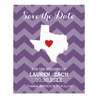 Home State Wedding Save the Date Texas Flyer