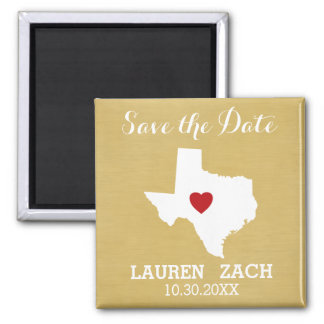 Home State Wedding Save the Date Texas Magnet